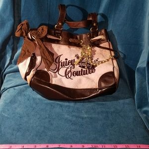 Handbags - Juicy Couture terry cloth and leather bag